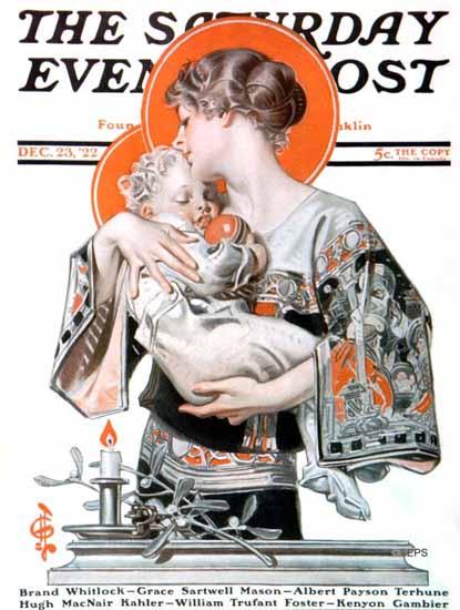 Roaring 1920s JC Leyendecker Saturday Evening Post Xmas 1922_12_23 | Roaring 1920s Ad Art and Magazine Cover Art