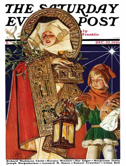 Roaring 1920s JC Leyendecker Saturday Evening Post Xmas 1926_12_25 | Roaring 1920s Ad Art and Magazine Cover Art