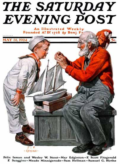 Roaring 1920s JF Kernan Artist Saturday Evening Post 1924_05_31 | Roaring 1920s Ad Art and Magazine Cover Art