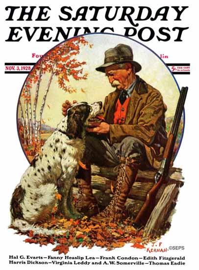 Roaring 1920s JF Kernan Artist Saturday Evening Post 1928_11_03 | Roaring 1920s Ad Art and Magazine Cover Art