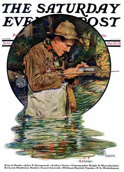 Roaring 1920s JF Kernan Cover Artist Saturday Evening Post 1929_05_25 | Roaring 1920s Ad Art and Magazine Cover Art