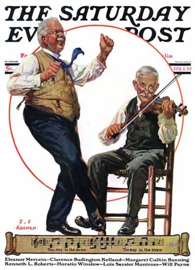 Roaring 1920s JF Kernan Saturday Evening Post 1929_02_02 | Roaring 1920s Ad Art and Magazine Cover Art