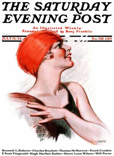 Roaring 1920s James Calvert Smith Saturday Evening Post 1924_07_12   Roaring 1920s Ad Art and Magazine Cover Art