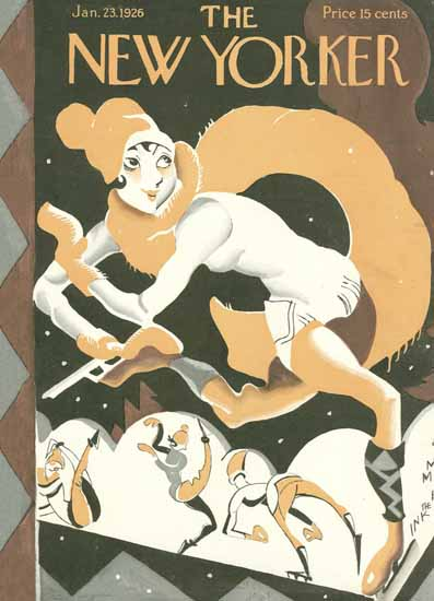 Roaring 1920s James Daugherty The New Yorker 1926_01_23 Copyright | Roaring 1920s Ad Art and Magazine Cover Art