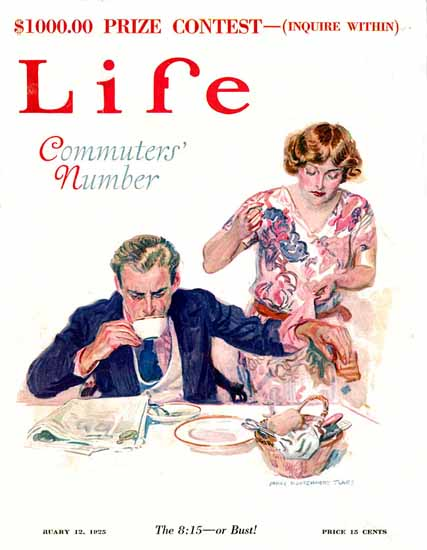 Roaring 1920s James Montgomery Flagg Life Cover 1925-02-12 Copyright | Roaring 1920s Ad Art and Magazine Cover Art