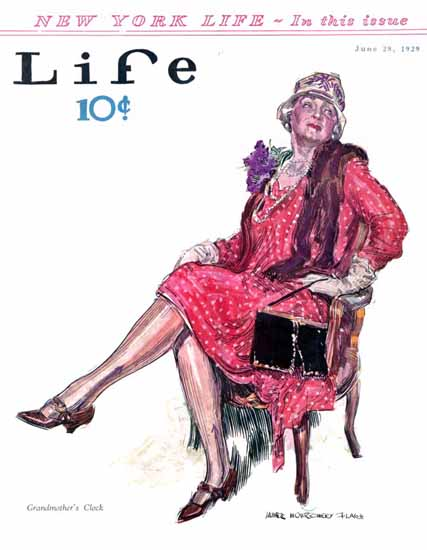 Roaring 1920s James Montgomery Flagg Life Cover 1929-06-28 Copyright | Roaring 1920s Ad Art and Magazine Cover Art