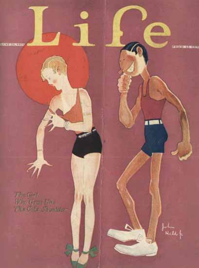 Roaring 1920s John Held Jr Life Cover Cold 1926-08-26 Copyright | Roaring 1920s Ad Art and Magazine Cover Art