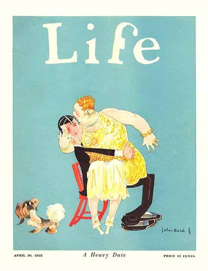 Roaring 1920s John Held Jr Life Cover Heavy Date 1925-04-30 Copyright | Roaring 1920s Ad Art and Magazine Cover Art