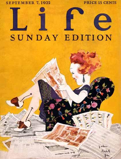 Roaring 1920s John Held Jr Life Humor Magazine 1922-09-07 Copyright | Roaring 1920s Ad Art and Magazine Cover Art