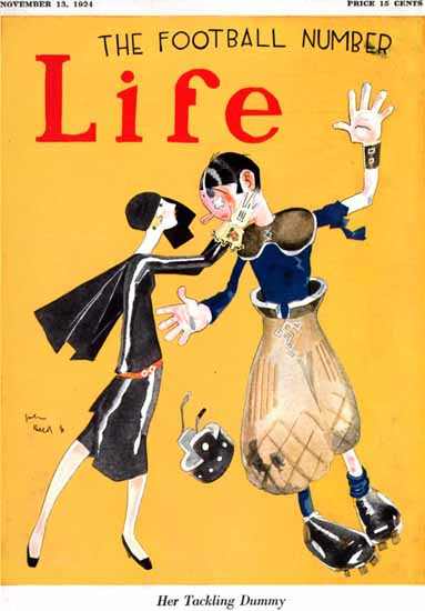 Roaring 1920s John Held Jr Life Humor Magazine 1924-11-13 Copyright | Roaring 1920s Ad Art and Magazine Cover Art