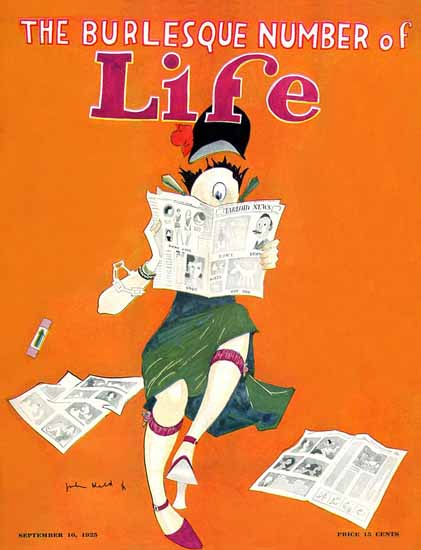 Roaring 1920s John Held Jr Life Humor Magazine 1925-09-10 Copyright | Roaring 1920s Ad Art and Magazine Cover Art