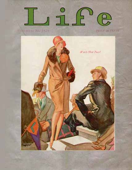 Roaring 1920s John Holmgren Life Magazine 1929-11-22 Copyright | Roaring 1920s Ad Art and Magazine Cover Art