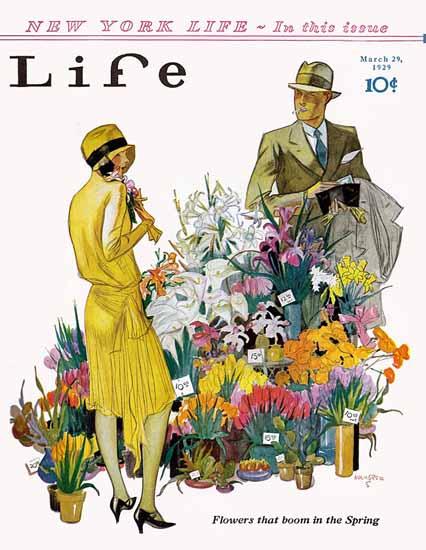 Roaring 1920s John Holmgren Life Magazine Boom 1929-03-29 Copyright | Roaring 1920s Ad Art and Magazine Cover Art