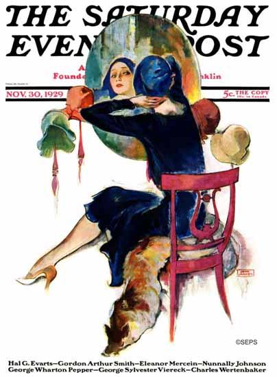 Roaring 1920s John La Gatta Saturday Evening Post 1929_11_30 | Roaring 1920s Ad Art and Magazine Cover Art