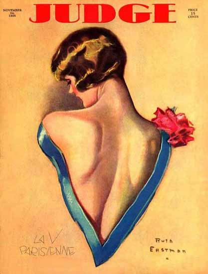 Roaring 1920s Judge 1928 La V Parisienne Ruth Eastman Rodgers | Roaring 1920s Ad Art and Magazine Cover Art
