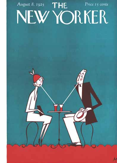 Roaring 1920s Julian De Miskey The New Yorker 1925_08_08 Copyright | Roaring 1920s Ad Art and Magazine Cover Art