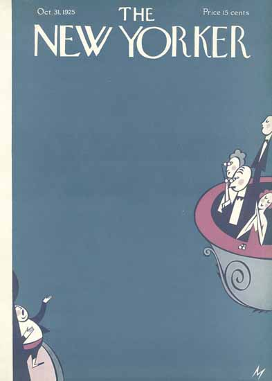 Roaring 1920s Julian De Miskey The New Yorker 1925_10_31 Copyright | Roaring 1920s Ad Art and Magazine Cover Art