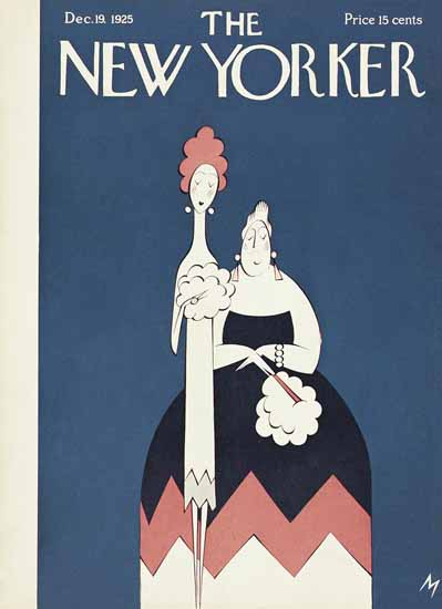 Roaring 1920s Julian De Miskey The New Yorker 1925_12_19 Copyright | Roaring 1920s Ad Art and Magazine Cover Art