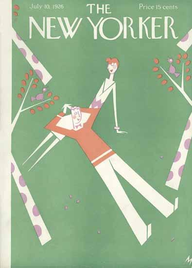 Roaring 1920s Julian De Miskey The New Yorker 1926_07_10 Copyright | Roaring 1920s Ad Art and Magazine Cover Art