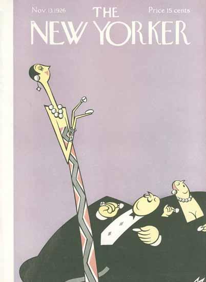 Roaring 1920s Julian De Miskey The New Yorker 1926_11_13 Copyright | Roaring 1920s Ad Art and Magazine Cover Art