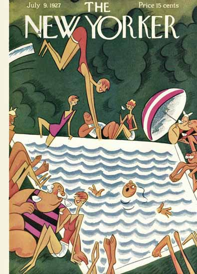 Roaring 1920s Julian De Miskey The New Yorker 1927_07_09 Copyright | Roaring 1920s Ad Art and Magazine Cover Art