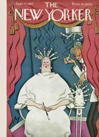 Roaring 1920s Julian De Miskey The New Yorker 1927_09_17 Copyright | Roaring 1920s Ad Art and Magazine Cover Art
