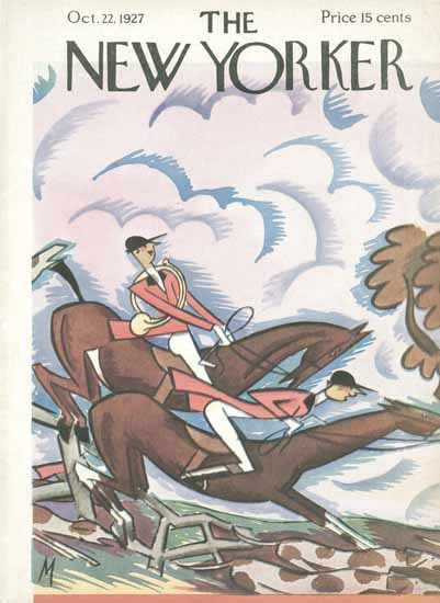 Roaring 1920s Julian De Miskey The New Yorker 1927_10_22 Copyright | Roaring 1920s Ad Art and Magazine Cover Art