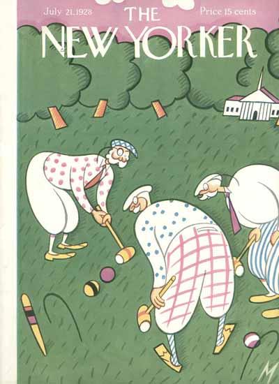 Roaring 1920s Julian De Miskey The New Yorker 1928_07_21 Copyright | Roaring 1920s Ad Art and Magazine Cover Art