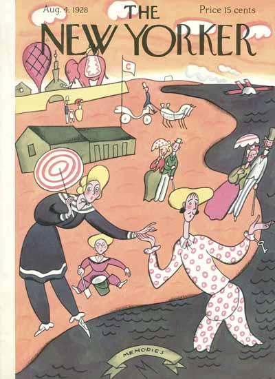 Roaring 1920s Julian De Miskey The New Yorker 1928_08_04 Copyright | Roaring 1920s Ad Art and Magazine Cover Art
