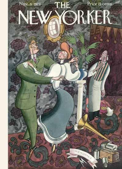 Roaring 1920s Julian De Miskey The New Yorker 1928_11_03 Copyright | Roaring 1920s Ad Art and Magazine Cover Art