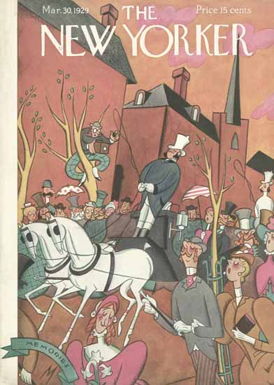 Roaring 1920s Julian De Miskey The New Yorker 1929_03_30 Copyright | Roaring 1920s Ad Art and Magazine Cover Art