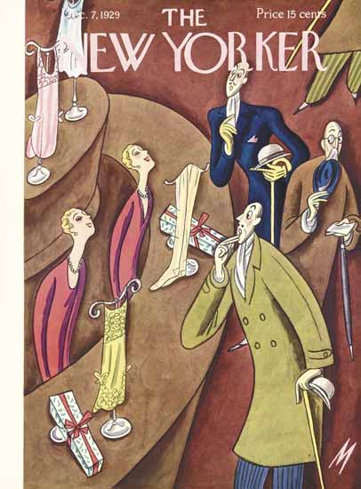 Roaring 1920s Julian De Miskey The New Yorker 1929_12_07 Copyright | Roaring 1920s Ad Art and Magazine Cover Art