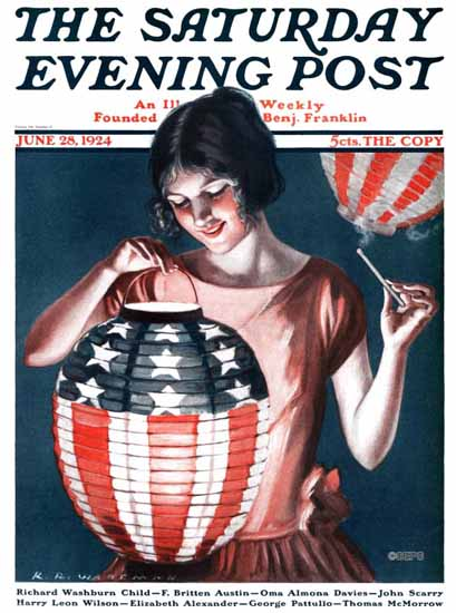 Roaring 1920s Katharine R Wireman Saturday Evening Post 1924_06_28 | Roaring 1920s Ad Art and Magazine Cover Art
