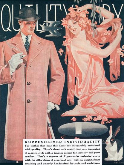 Roaring 1920s Kuppenheimer Menswear Chicago 1929   Roaring 1920s Ad Art and Magazine Cover Art