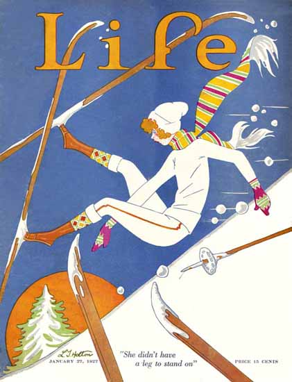 Roaring 1920s LT Holton Life Humor Magazine 1927-01-27 Copyright | Roaring 1920s Ad Art and Magazine Cover Art