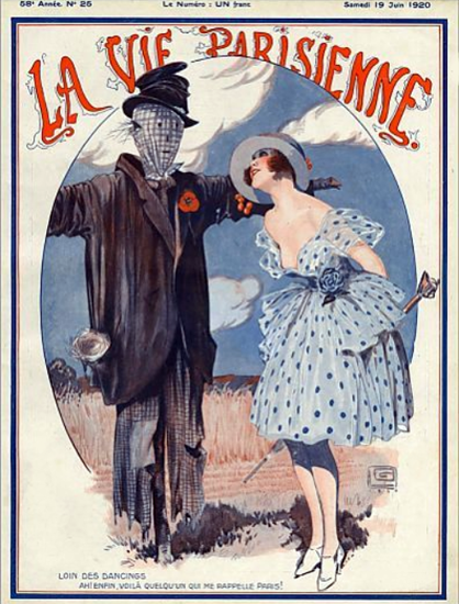 Roaring 1920s La Vie Parisienne 1920 Lion Des Dancings | Roaring 1920s Ad Art and Magazine Cover Art