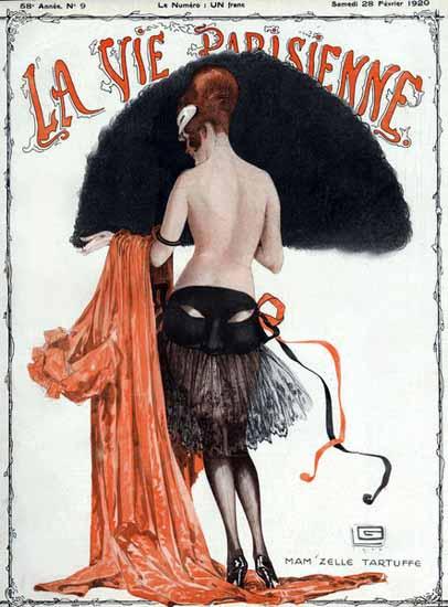 Roaring 1920s La Vie Parisienne 1920 Nude MamZelle Tartuffe | Roaring 1920s Ad Art and Magazine Cover Art