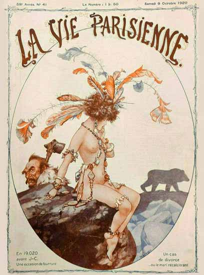 Roaring 1920s La Vie Parisienne 1920 Un Cas De Divorce | Roaring 1920s Ad Art and Magazine Cover Art