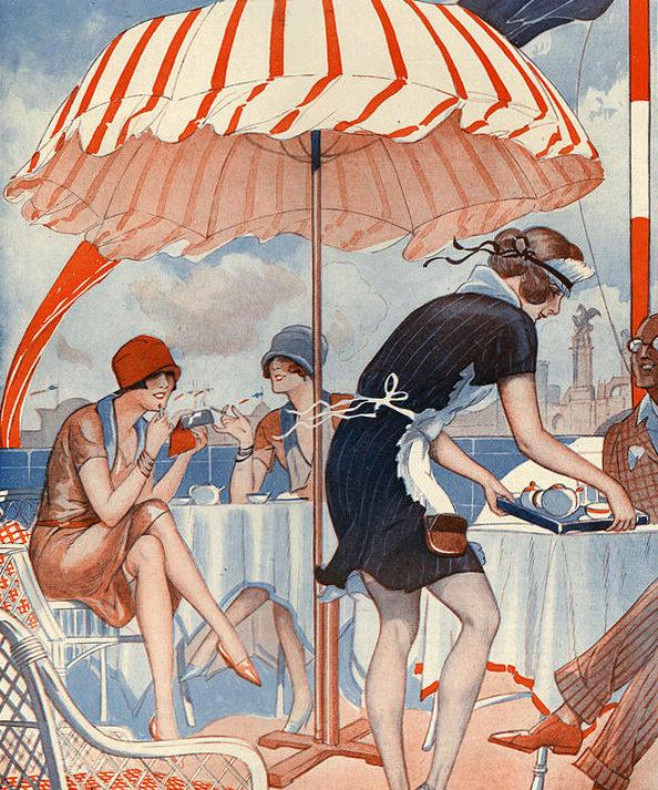 Roaring 1920s La Vie Parisienne 1920s Hasard Decoratif page | Roaring 1920s Ad Art and Magazine Cover Art