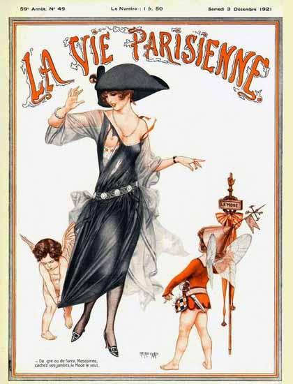 Roaring 1920s La Vie Parisienne 1921 Cachez Vos Jambes | Roaring 1920s Ad Art and Magazine Cover Art