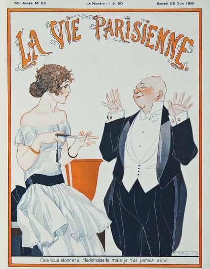 Roaring 1920s La Vie Parisienne 1921 Cela Vous Etonnera | Roaring 1920s Ad Art and Magazine Cover Art
