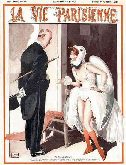 Roaring 1920s La Vie Parisienne 1921 Coeur Georges Leonnec | Roaring 1920s Ad Art and Magazine Cover Art