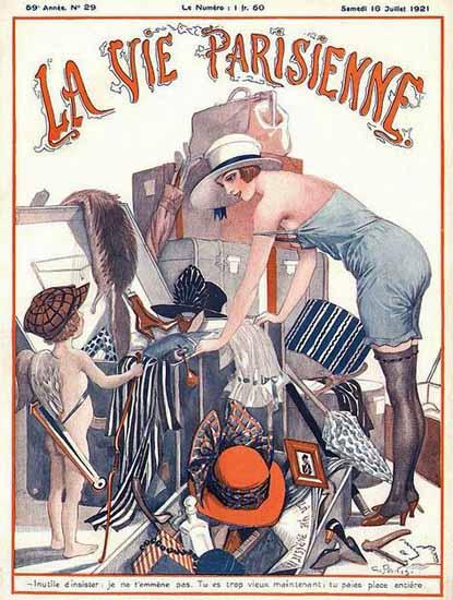 Roaring 1920s La Vie Parisienne 1921 Inutile D Insister | Roaring 1920s Ad Art and Magazine Cover Art