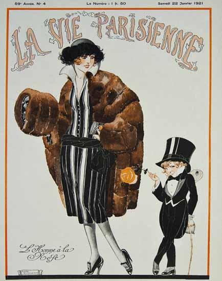 Roaring 1920s La Vie Parisienne 1921 L Homme A La Rose | Roaring 1920s Ad Art and Magazine Cover Art