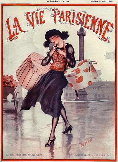 Roaring 1920s La Vie Parisienne 1921 La Botanique Des Demoiselles | Roaring 1920s Ad Art and Magazine Cover Art