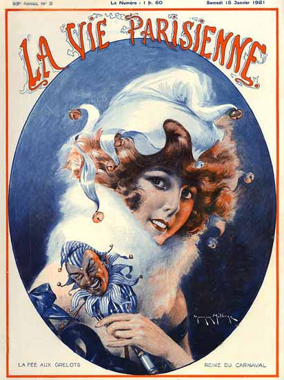 Roaring 1920s La Vie Parisienne 1921 La Fee Aux Grelots | Roaring 1920s Ad Art and Magazine Cover Art