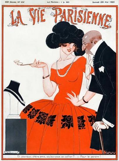 Roaring 1920s La Vie Parisienne 1921 Pour Le Prendre | Roaring 1920s Ad Art and Magazine Cover Art