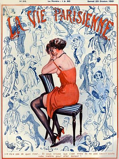 Roaring 1920s La Vie Parisienne 1921 Robe Pour Aller Danser | Roaring 1920s Ad Art and Magazine Cover Art