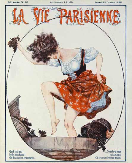 Roaring 1920s La Vie Parisienne 1922 Bell Bacchante | Roaring 1920s Ad Art and Magazine Cover Art