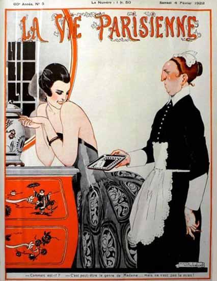 Roaring 1920s La Vie Parisienne 1922 Comment Est-Il | Roaring 1920s Ad Art and Magazine Cover Art